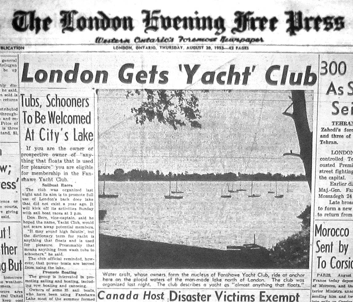 """London Gets Yacht Club""  ·  August 20, 1953"